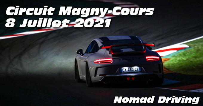 Photos au Circuit de Magny-Cours le 8 Juillet 2021 avec Nomad Driving en Nocturne
