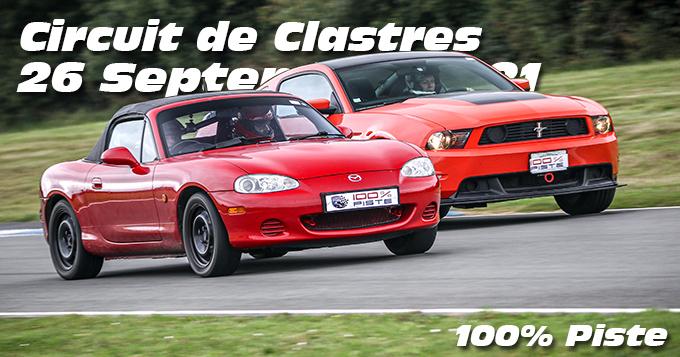 Photos au Circuit de Clastres le 26 Septembre 2021 avec 100% Piste